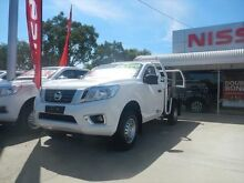 2015 Nissan Navara DX Polar White Manual Cab Chassis Young Young Area Preview