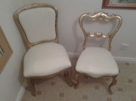 LOVELY REFURBISHED ANTIQUE BEDROOM CHAIRS
