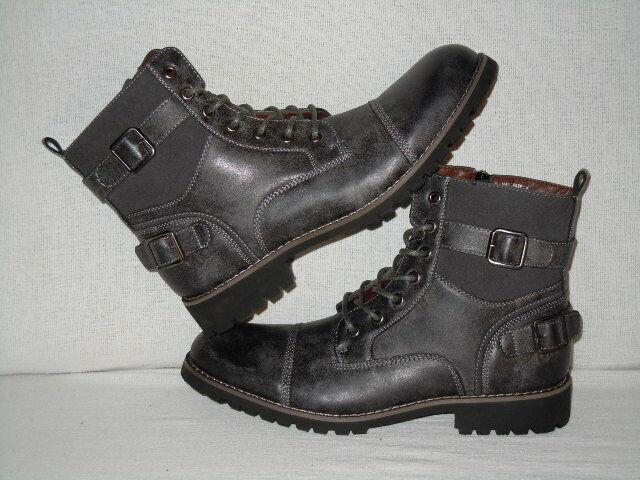 Polar Fox Patrick Captoe Combat Boots  Men's Size 9 D   Grey