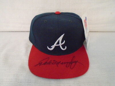 Dale Murphy Signed Atlanta Braves Sports Specialties Size 7 Fitted Hat Cap JSA