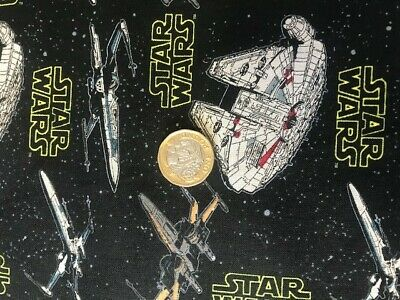 STAR WARS millenium ship  cotton fat quarter fabric material face mask making