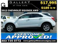 2012 Chevrolet Equinox LS AWD $189 bi-weekly APPLY NOW DRIVE NOW