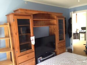 McClearys Solid Pine Entertainment Center