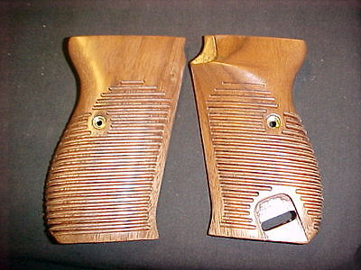 Walther P38 P1 Horizontal Lined American Walnut Pistol Gun Grips Beautiful! NEW! for sale  USA