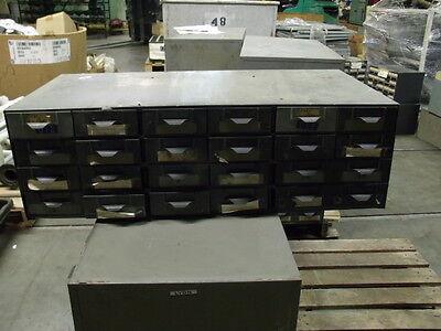 Lyon Metal 24 Drawer Supply Bin Cabinet 34 X 17 X 10 12