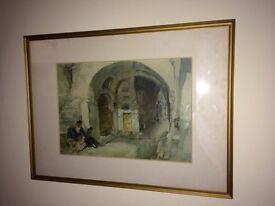Russell Flint print, framed