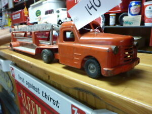 Structo Fire Rescue Truck & Trailer Vintage Toys