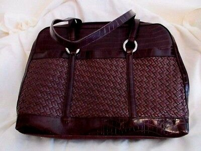 Coldwater Creek Laptop Computer Bag Tote Briefcase Case Faux Leather New is $59 for sale  Shipping to India
