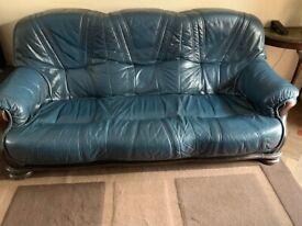 Elegant Pair of Leather Sofas
