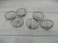 6 Wire Frames for Hanging Baskets .