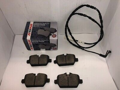 Rear Brake Pads & Sensor For BMW 1 Series E81 E82 E87 E88 2004-2014