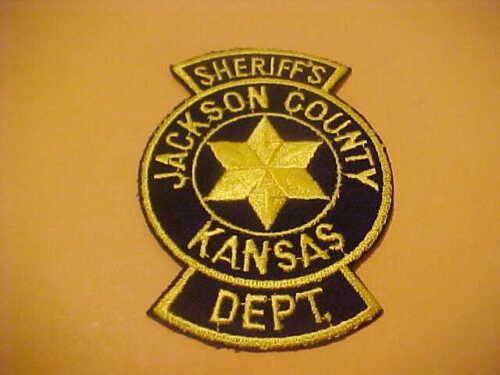 JACKSON COUNTY KANSAS POLICE PATCH SHOULDER SIZE UNUSED