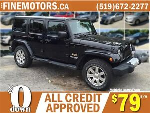 2012 JEEP WRANGLER UNLIMITED SAHARA * 4x4 * BOTH HARD & SOFT TOP