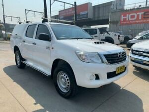 2014 Toyota Hilux KUN26R MY14 SR Double Cab White 5 Speed Automatic Utility Granville Parramatta Area Preview