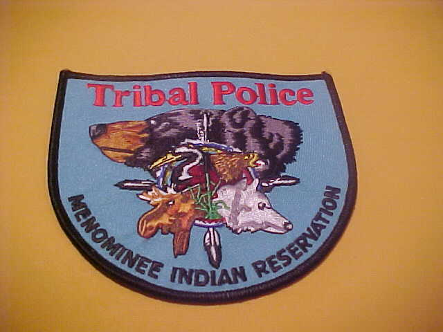 WISCONSIN MENOMINEE RESERVATION TRIBAL  POLICE PATCH SHOULDER SIZE NEW