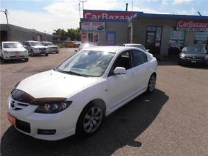2007 MAZDA3 GT SEDAN AIR AUTO POWER FEATURES FINANCE FOR 3 YRS