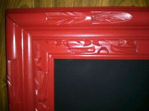 Red Etched Frame Chalkboard