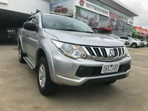2015 Mitsubishi Triton MQ MY16 GLX Double Cab Silver 6 Speed Manual Utility Hoppers Crossing Wyndham Area Preview