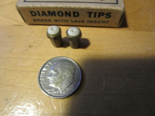 2 DIAMOND TIPS For Miners CARBIDE LAMPS -New/Old Stock!