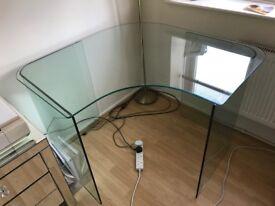John Lewis Staton Glass Corner Desk