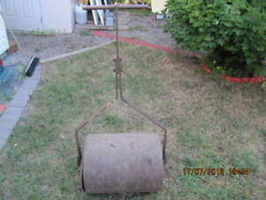 Vintage Solid Thick Gauge Steel Lawn/Lanscape Roller Circa 1950s