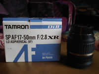 Tamron SP AF17 - 50mm F/2.8 IF Aspherical LD XR DI Pentax Fit Lens With Box