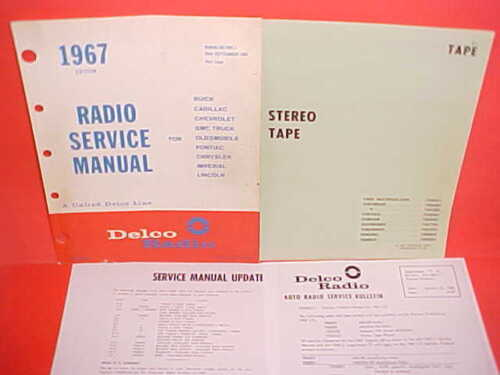 1967 PONTIAC FIREBIRD DELCO 8-TRACK STEREO TAPE PLAYER SERVICE MANUAL 7302332