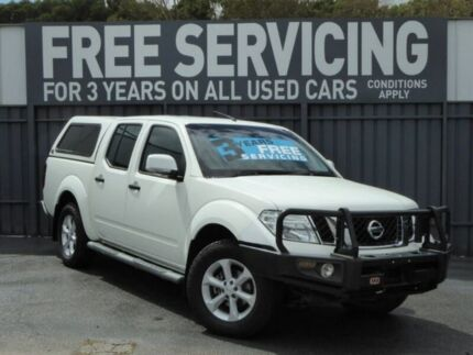 2013 Nissan Navara D40 S6 MY12 ST White 6 Speed Manual Utility Reynella Morphett Vale Area Preview