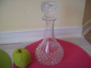 1 CRYSTAL DECANTER   ..