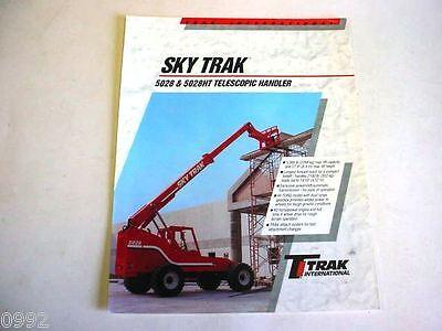 Sky Trak 5028 5028ht Telescopic Handler Forklift 1995 2 Pages Brochure