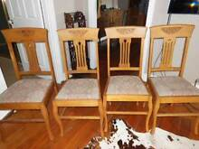 oak dining chairs North Narrabeen Pittwater Area Preview