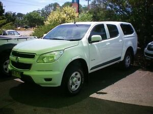 2012 Holden Colorado RG LX (4x2) White 6 Speed Automatic Crewcab Heatherbrae Port Stephens Area Preview