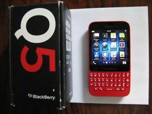 *RARE* RED- NEW IN BOX- 32Gb Blackberry Q5+UNLOCKED+CALL/TEXT
