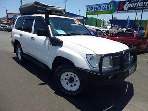 2005 Toyota Landcruiser HZJ105R Standard White 5 Speed Manual Wagon Westcourt Cairns City Preview