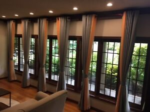 Custom Blinds and Curtains.