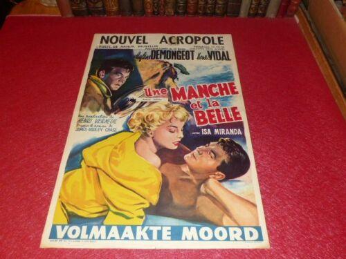 Cinema Poster Original Belgian - A Sleeve And Belle Verneuil Demongeot 1957