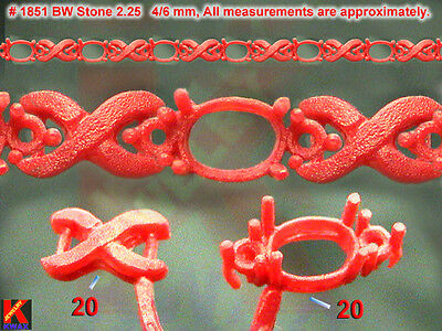 # 1851 40 WAX PATTERNS TENNIS BRACELET JEWELRY TOOLS CASTING Rubber Molds