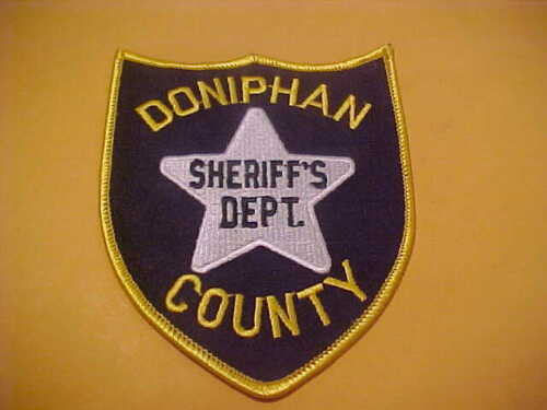 DONIPHAN COUNTY KANSAS  POLICE PATCH SHOULDER SIZE UNUSED