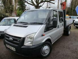 2007 Ford Transit 2.4TDCi 115PS 350 LWB DOUBLE CAB TIPPER NO VAT SILVER 118K