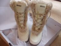 Nevica ladies cream snowboots - UK5 - Brand new in box