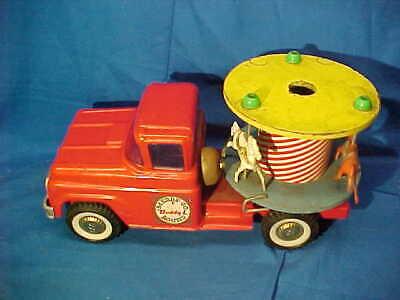 1950s BUDDY L Pressed Steel MERRY GO ROUND Toy TRUCK