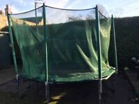 Trampoline 8ft x 9ft hexagonal