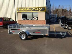 "New 2017 K-Trail 66"" x 10' Galvanized Utility Trailer"