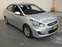 2013 Hyundai Accent RB2 Active Silver 4 Speed Automatic Sedan Gateshead Lake Macquarie Area Preview
