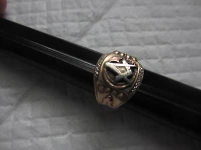Masonic Ring 10 kt Gold  circa 1930 s    free shipping