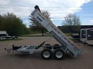 "New 2015 Cam Advantage 80"" x 14' HD Galvanized Dump Trailer"