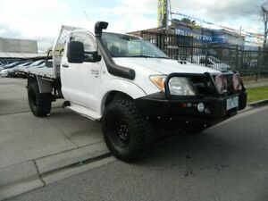 2007 Toyota Hilux KUN26R 06 Upgrade SR (4x4) White 4 Speed Automatic Cab Chassis Williamstown North Hobsons Bay Area Preview