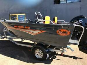 Clark 460 Rebel Pro Side Console with 60hp Mercury Outboard Coorparoo Brisbane South East Preview