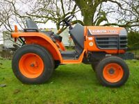 KUBOTA B1410 4X4 COMPACT TRACTOR – ONLY 76 HOURS!!!