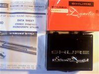 BRAND NEW SHURE DYNETIC MODEL N3D PROFESSIONAL DIAMOND STYLUS TURNTABLE NEEDLE. RARE. 1975.